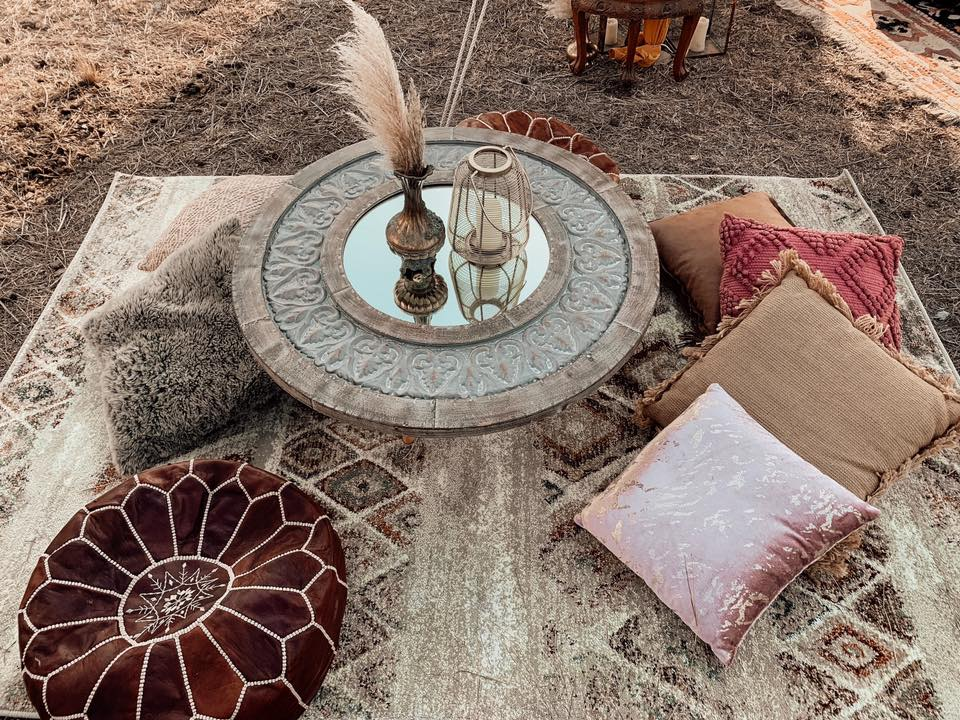 Boho Coffee Table Setting