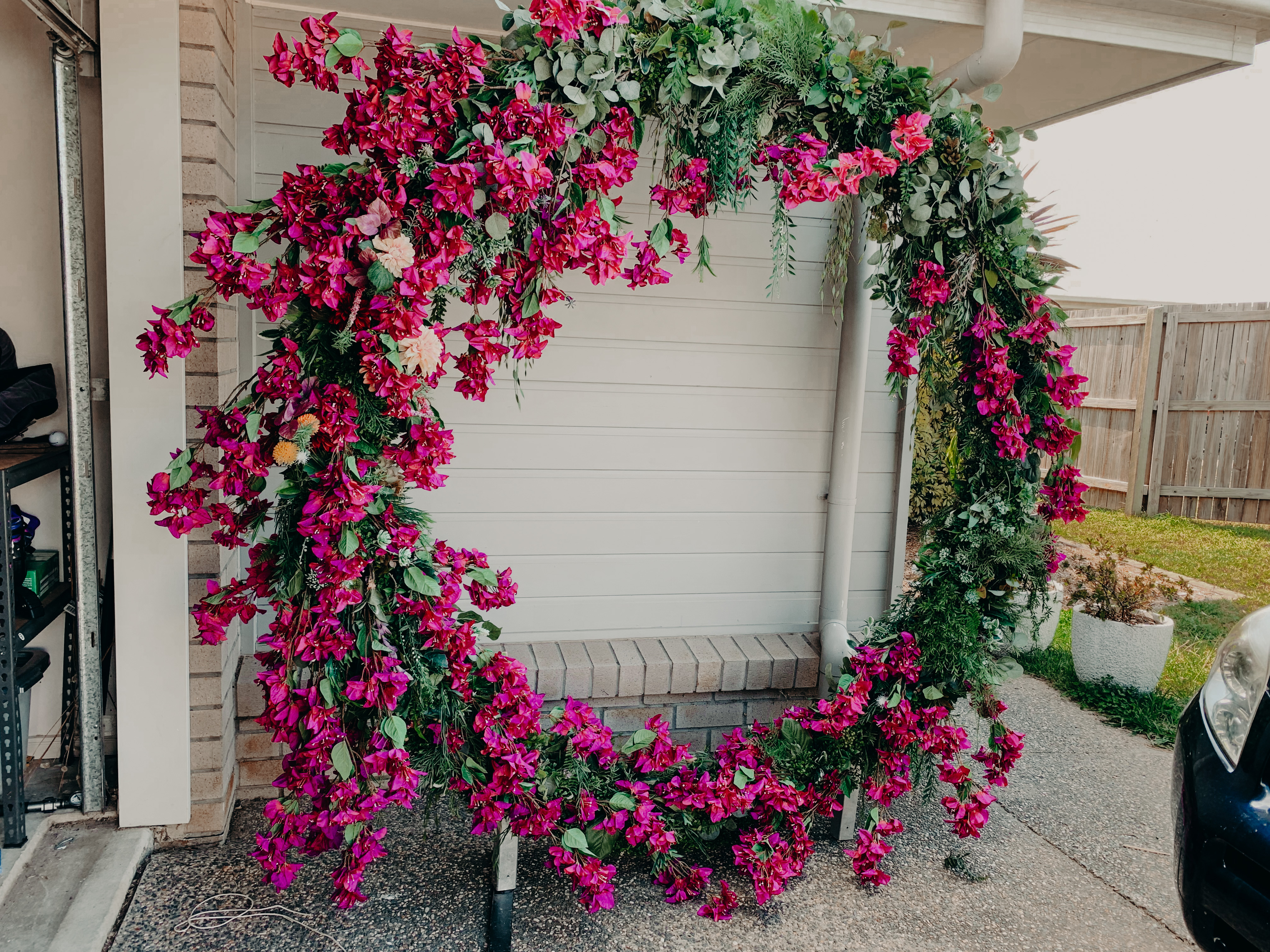 Bougainvillea circle arbour