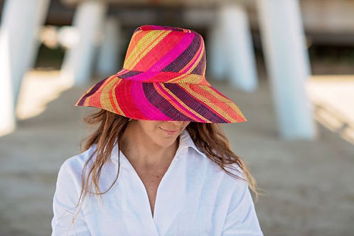 Demi Capeline Hat (striped)