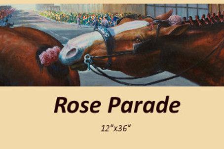 """Rose Parade"" original acrylic on canvas"