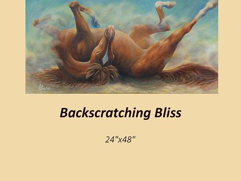 """Backscratchin' Bliss"" original acrylic on canvas"