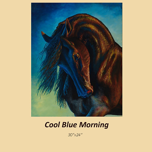 """Cool Morning Blue"" signed and numbered limited edition print"