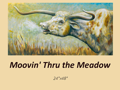 """Moovin' thru the Meadow"" signed and numbered limited edition print"