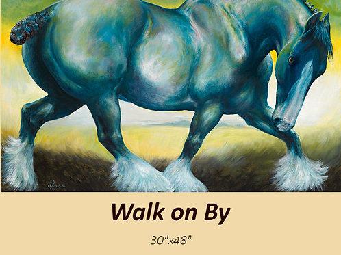 """Walk on By"" original acrylic on canvas"
