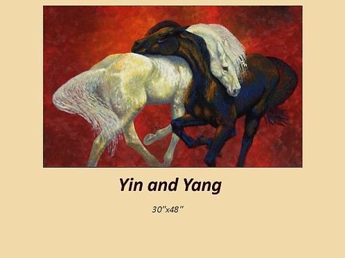 """Yin and Yang"" original acrylic on canvas"