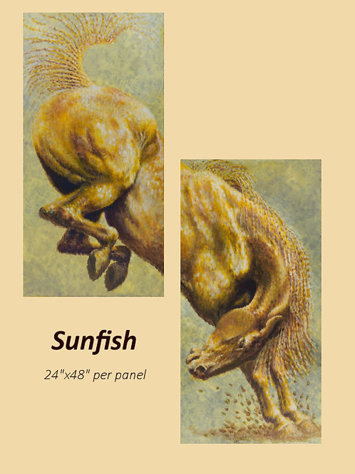 """Sunfish"" original acrylic on canvas"