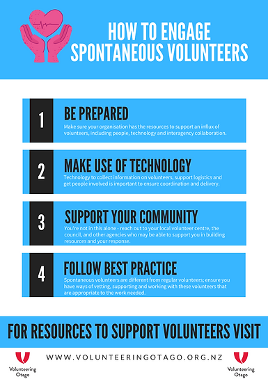 small how to engage spontaneous voluntee