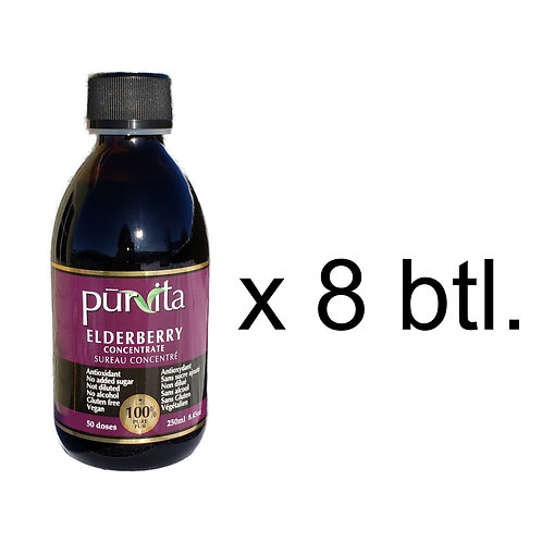 Elderberry Concentrate 250ml  pack of 8 + 2 FREE 100ml bottles