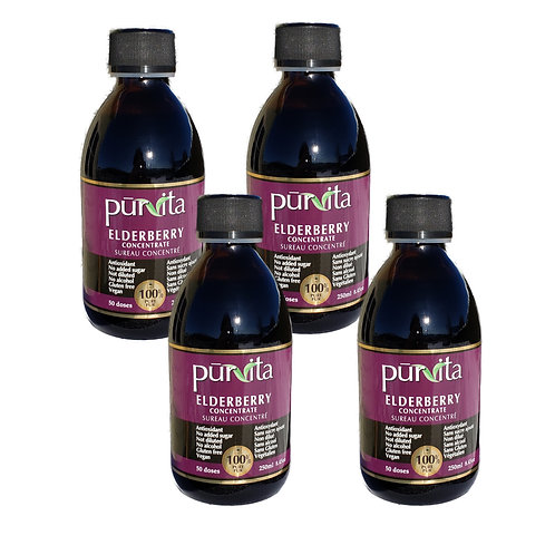 Elderberry Concentrate 250ml  pack of 4 + 1 FREE 100ml bottles
