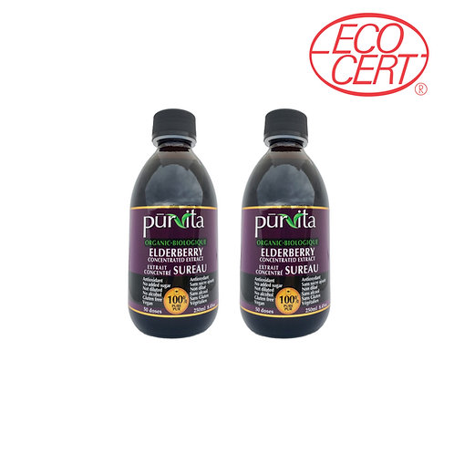 ORGANIC Elderberry Concentrate Extract 250ml - 2 pack