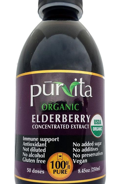 USDA ORGANIC Elderberry Concentrate Extract 250ml