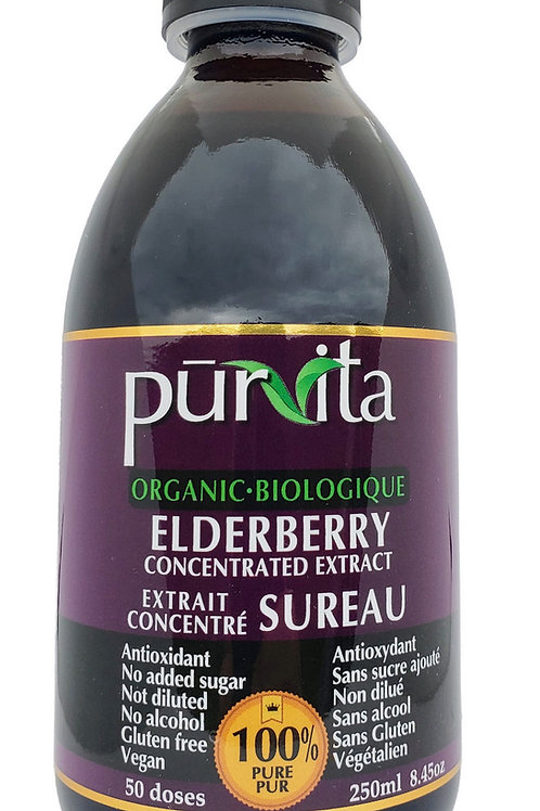 ORGANIC Elderberry Concentrate Extract 250ml