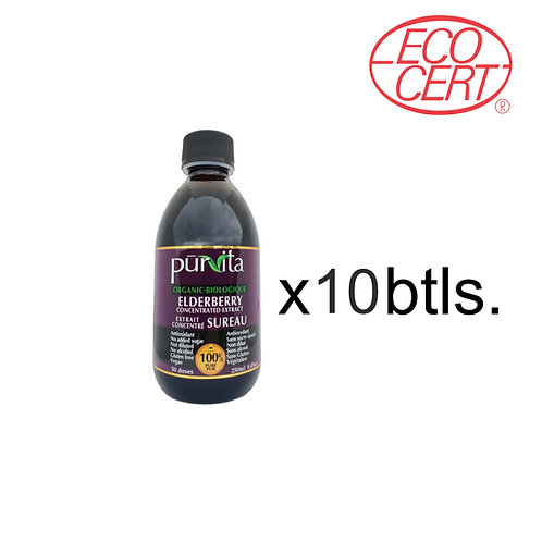 CANADA ORGANIC Elderberry Concentrate Extract 250ml    10 pack
