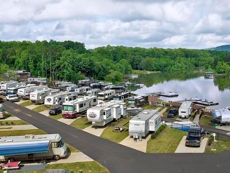 Camping...cough...Glamping (Lake Norman Motor Coach Resort)