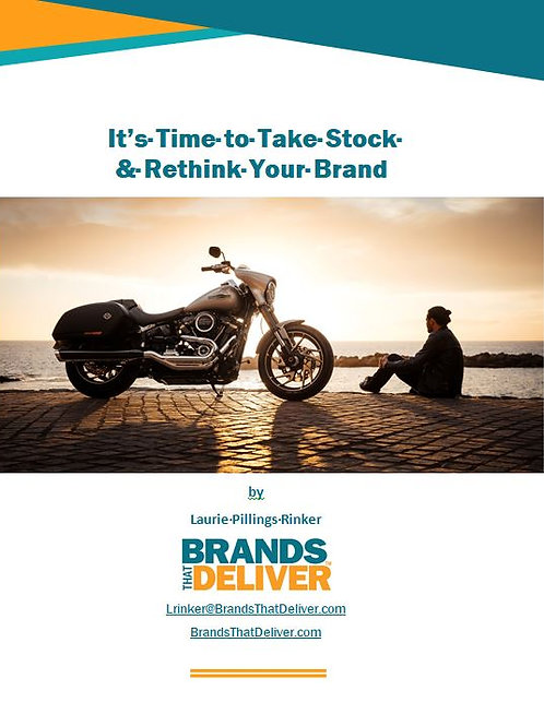 """Pre order e-book Blog Series, """"It's Time to Take Stock & Rethink Your Brand"""""""