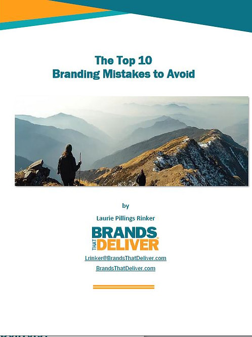"""e-book, """"The Top 10 Branding Mistakes to Avoid"""""""