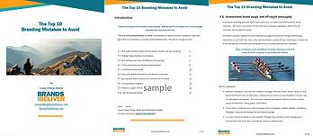 Top 10 Branding Mistakes to avoid-Sample