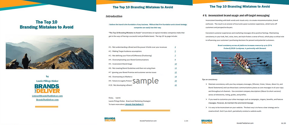 Top 10 Branding Mistakes to avoid-Sample