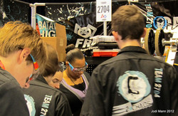 Pit area during a competition