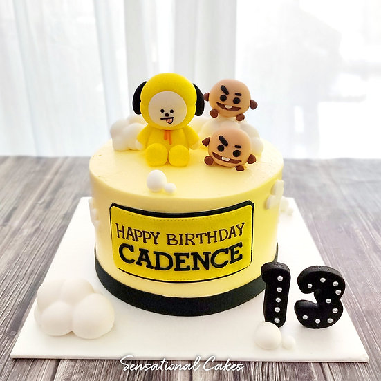 Cutest Chimm & Shooks Theme Inspired 3D Customized Cake