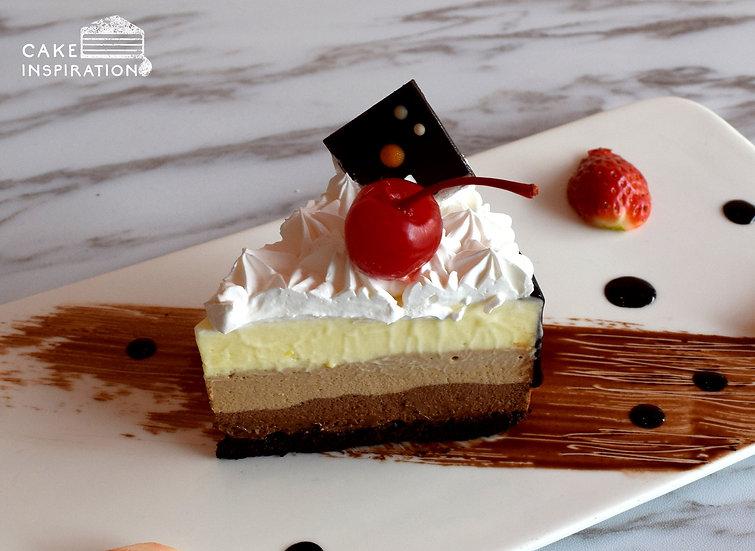 Triple Chocolate Slice Cake