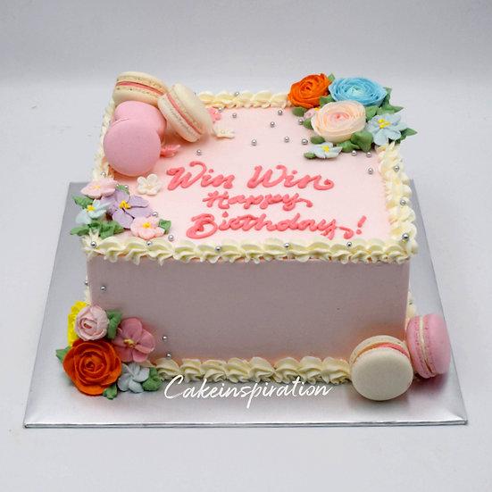Design cake for group - design 2 - Pastel Pink