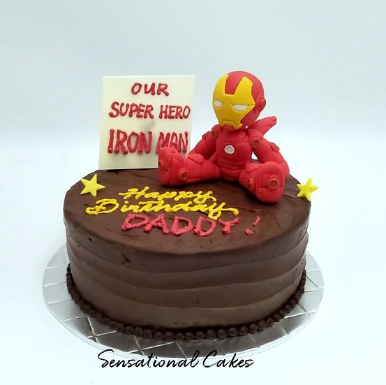 Topper collection - design 16 - Hero 3d Topper Chocolate Cake