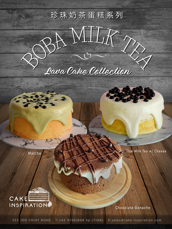 Boba Milk Tea Cake Collection