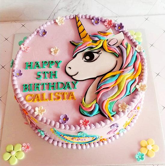 Design cake for group - design 4 - Unicorn