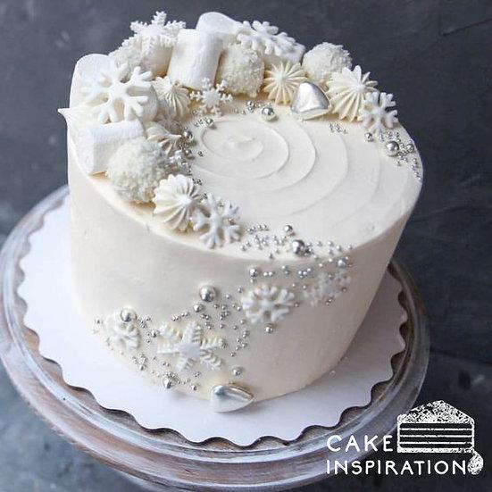 Xmas Snow Theme Cake - 6inch ( CC#10 )