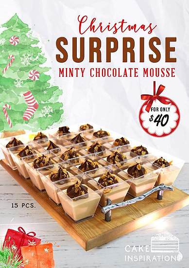Shooter glass series , Christmas Minty Chocolate Mousse delights ( CD#26 )