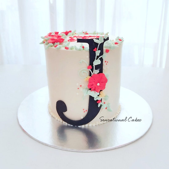 Letter Flora Alphabet Birthday 3D Customized Cake