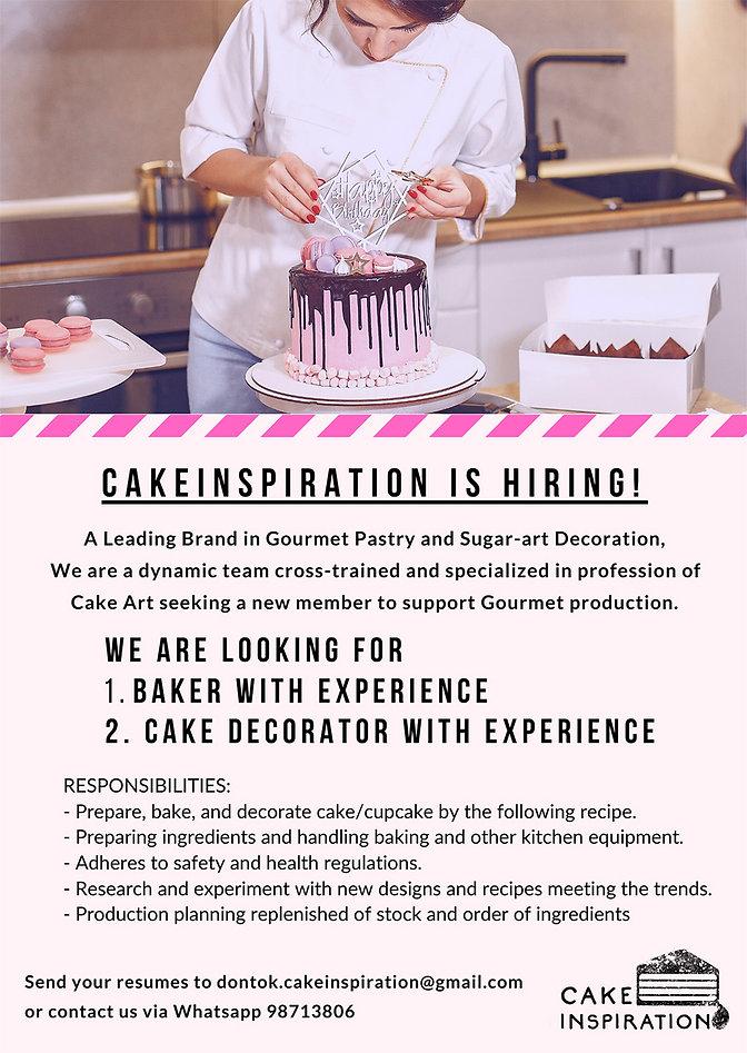 Cakeinspiration Job Vacancy Announcement