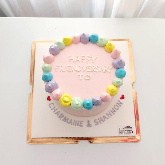 Plain Simple Style - Rainbow Drops Cake ( P07 )