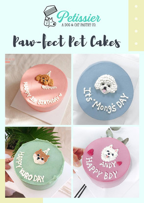 Plain + Head Design Cakes