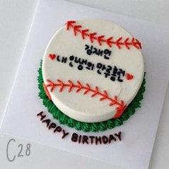 Cartoon Style - Baseball Sport Cake ( C28 )