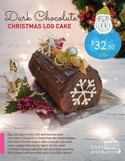 Christmas Dark Chocolate Log Cake ( CLC#04 )