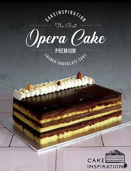 Opera cake - top of the range premium french choc cake