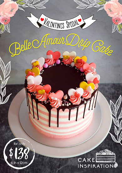Belle Amour Drip Cake