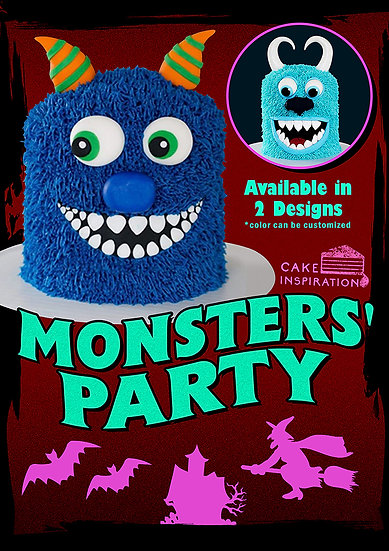Monsters' Party Cake 6inch / 1 day lead time