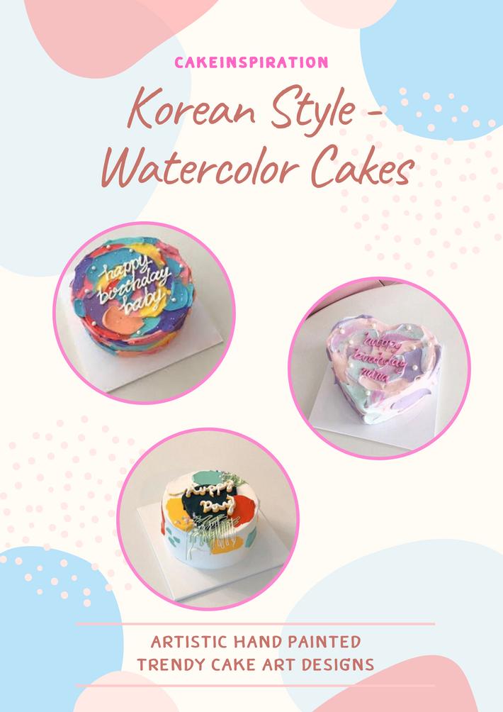 Korean Watercolor Cakes
