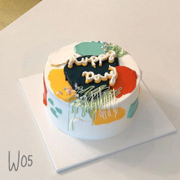 Watercolor Style - Brush Strokes Cake ( W05 )