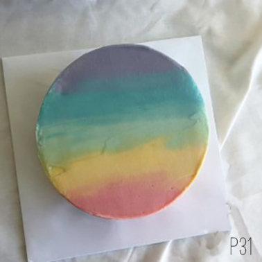 Plain Simple Style - Rainbow Cake ( P31 ) - 8inch