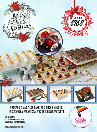 NEW! Christmas Combo package 4-in-1 with T Log Cake ( CPC#32 )