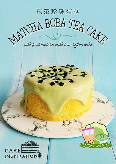 Matcha Boba Milk Tea Cake