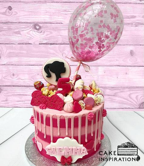 Balloon confetti - design 16 (candies, mallows, popcorn, pink drip confetti)