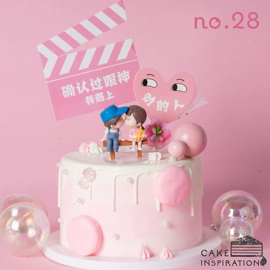 Couple Love Story Topper Cake ( no.28 ) - 6inch