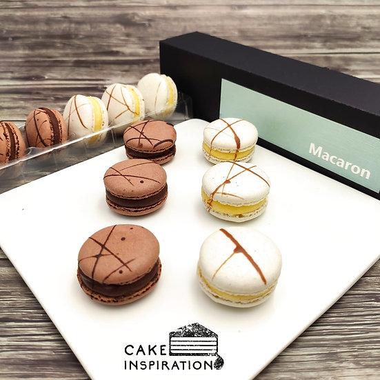 Macaron ( 6 pcs set ) Chocolate & Vanilla