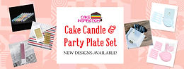 Cake Display Toppers/ Tags / Candles / Party Plate