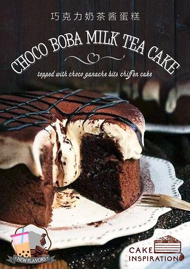 Choco Boba Milk Tea Cake
